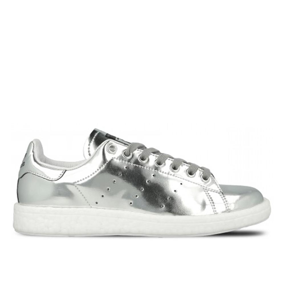 adidas Originals Stan Smith W Boost銀白色休閒經典復古款低筒女鞋GT Company BB0108