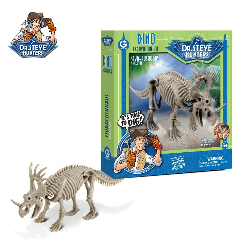 義大利 GeoWorld CL1669K恐龍挖掘-刺盾角龍