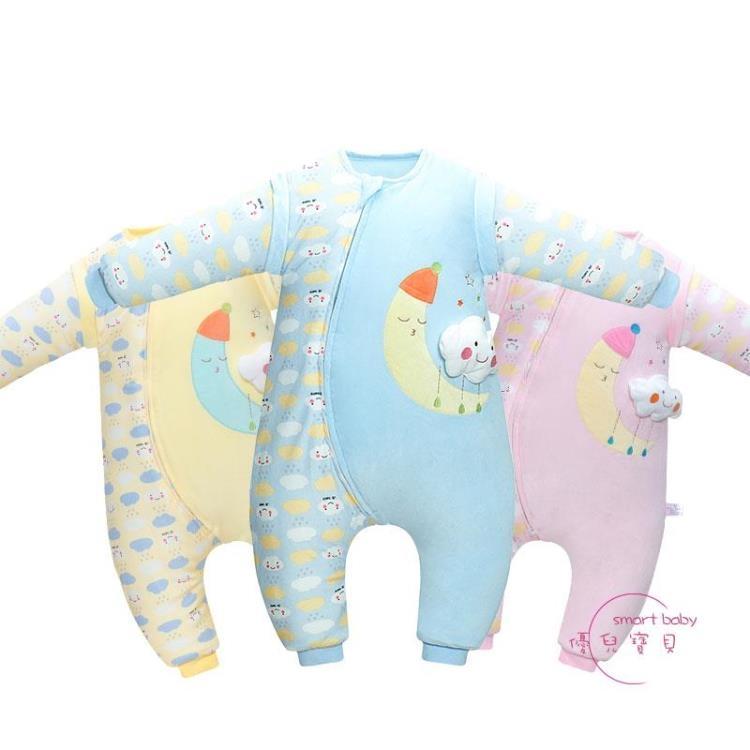 嬰幼兒分腿防踢被寶寶防踢被秋冬加厚新生兒童衣服多功能可拆卸優兒寶貝