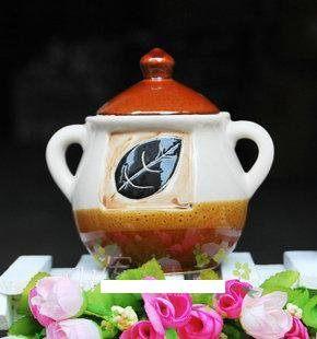 陶瓷密封罐2件套裝廚房用品糖果罐糖缸儲物罐茶葉罐