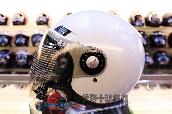 中壢安信GP5 323白安全帽半罩式安全帽透氣抗菌內襯