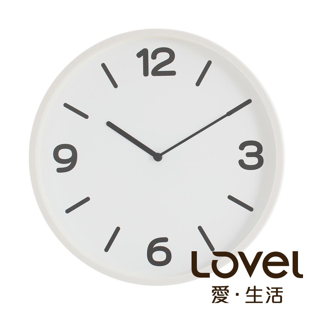 Lovel 30cm摩登膠框靜音時鐘- 共3款