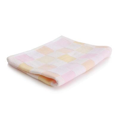 美冠繽紛配色彩格紗布童巾(共2色)