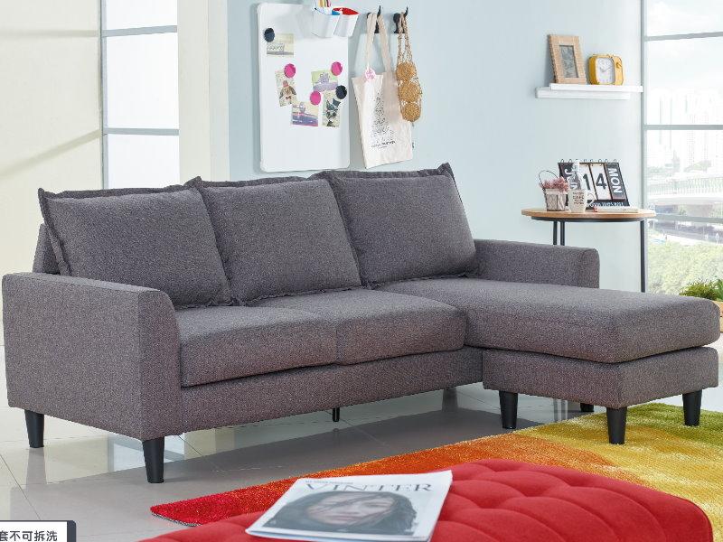 沙發L型布沙發AM-565-1歐克斯小型沙發布質大眾家居舘