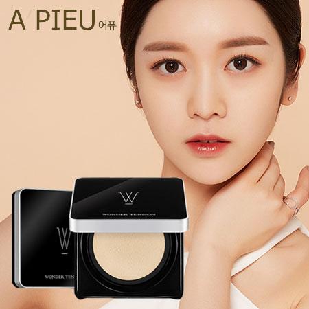 韓國A'PIEU Wonder Tension幻想魔方網狀夾心氣墊13g黑色銀邊氣墊粉餅底妝粉餅A pieu APIEU