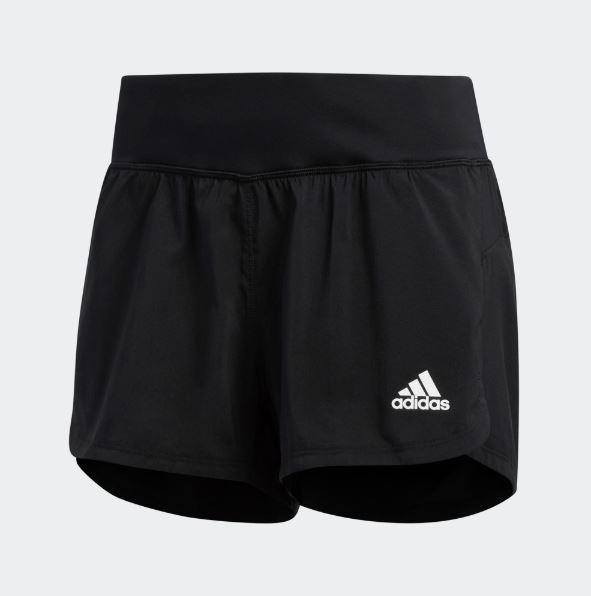 Adidas 女款黑色運動短褲-NO.DU3493