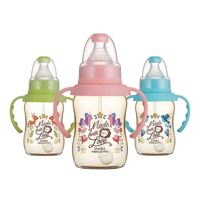 Simba小獅王辛巴 - 桃樂絲 - PPSU自動把手標準葫蘆小奶瓶150ml