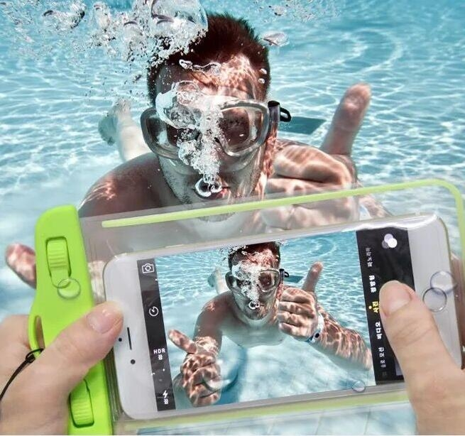 超便宜發光衝浪保護套掛繩手機防水袋潛水袋防水套iphone6 6s 7plus note5 s8 j7 r9s plus