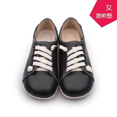 A MOUR經典手工鞋頂級牛革饅頭小牛黑氣墊鞋平底頂級小牛皮超軟饅頭鞋DH-2818