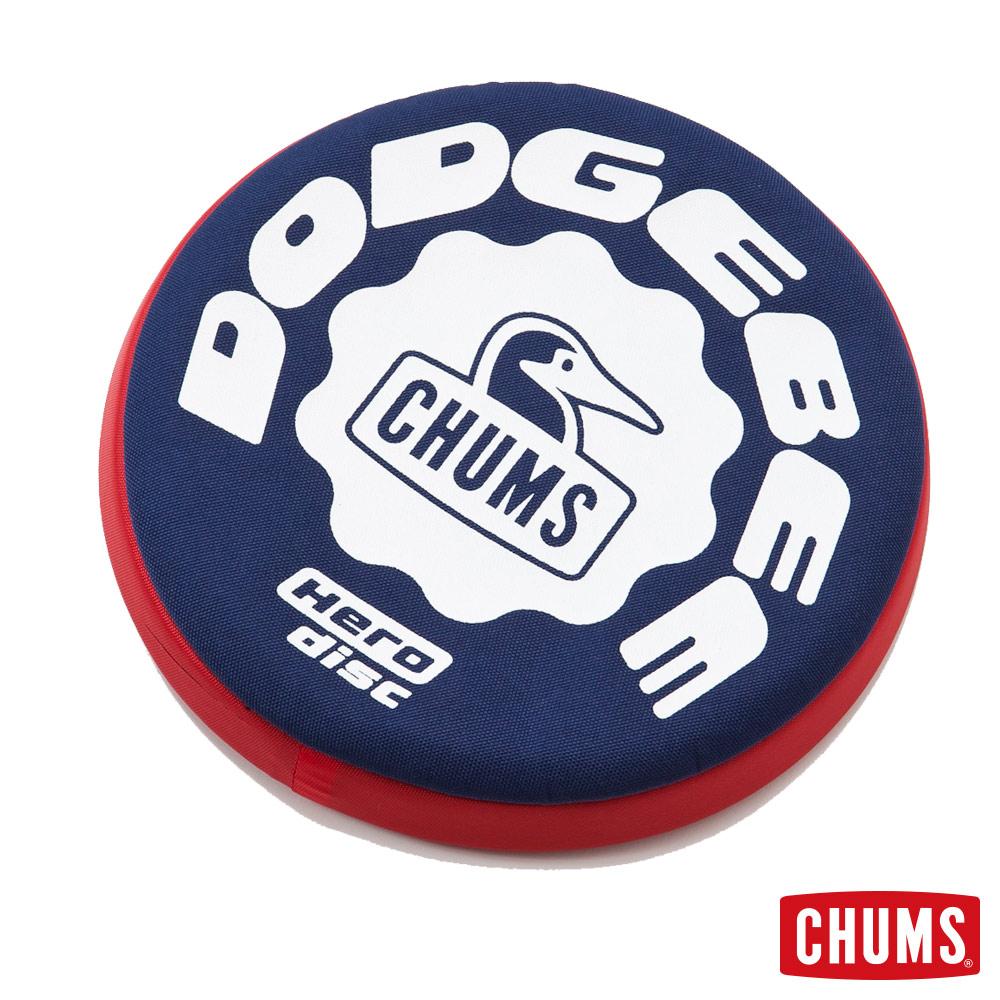 CHUMS日本Dodgebee可水洗布飛盤~擊中不痛23.5cm深藍