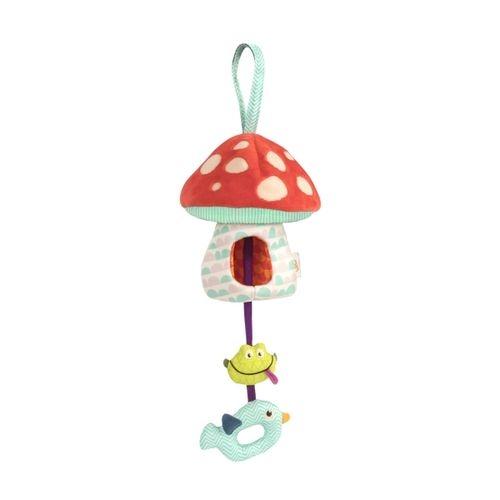 美國B.Toys蘑菇說晚安聲光安撫吊飾BX1564Z衛立兒生活館