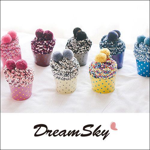 珊瑚絨蛋糕襪子長襪保暖襪中筒襪多色柔軟舒適甜點造型創意聖誕交換禮物DreamSky