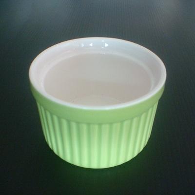 彩瓷布丁蛋糕烤模(綠色-120ml)/陶瓷器皿/烘焙用品