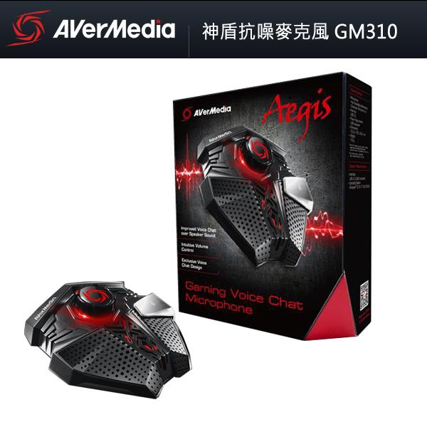 【免運費】AVerMedia 圓剛 神盾抗噪麥克風 GM310