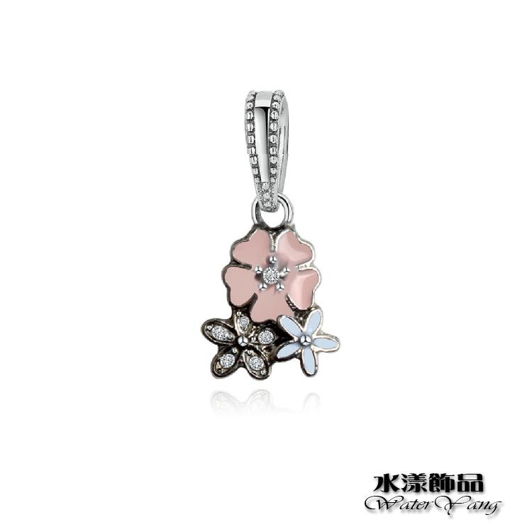三朵櫻花小吊飾