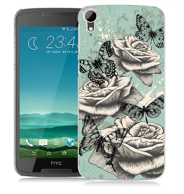 俏魔女美人館復古玫瑰花立體浮雕水晶硬殼HTC Desire 828手機殼手機套保護套保護殼