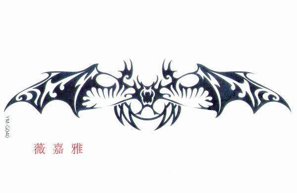 薇嘉雅  橫條超酷紋身貼紙 G040