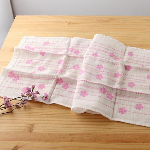 日本紗布巾和心傳櫻34*84 cm長毛巾二重紗布巾taoru日本毛巾