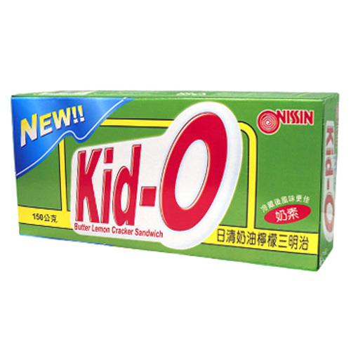 日清Kid-O三明治餅乾-奶油檸檬口味150g愛買