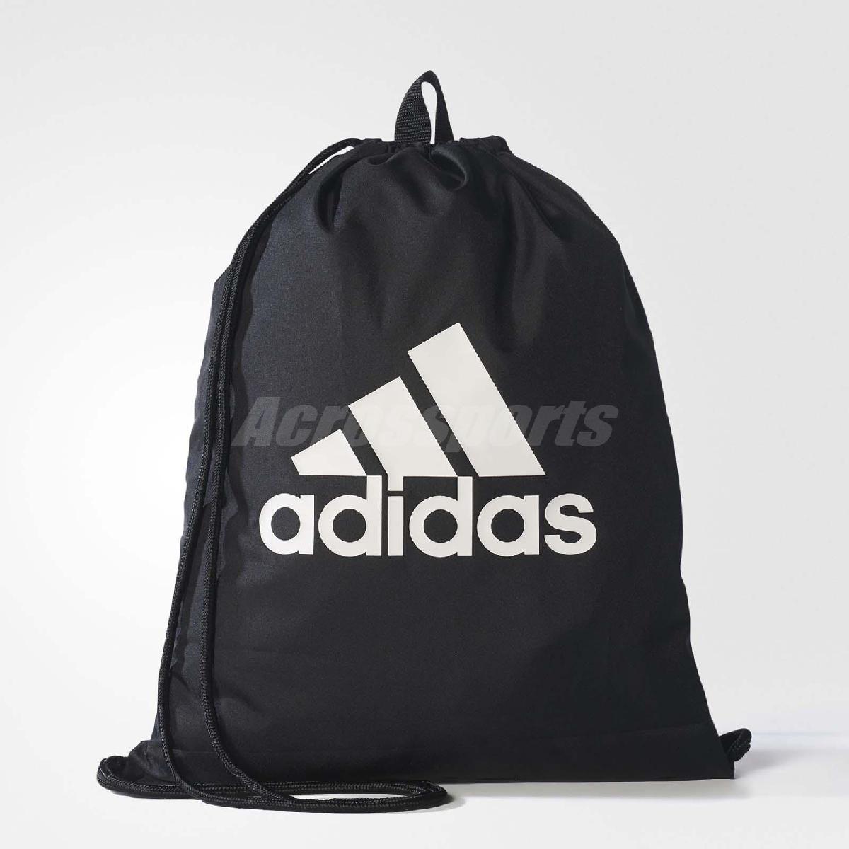 adidas 束口袋 PER LOGO GYM BAG 男女款 經典款 三條線 雙肩背 後背包 黑白 【PUMP306】 BR5051