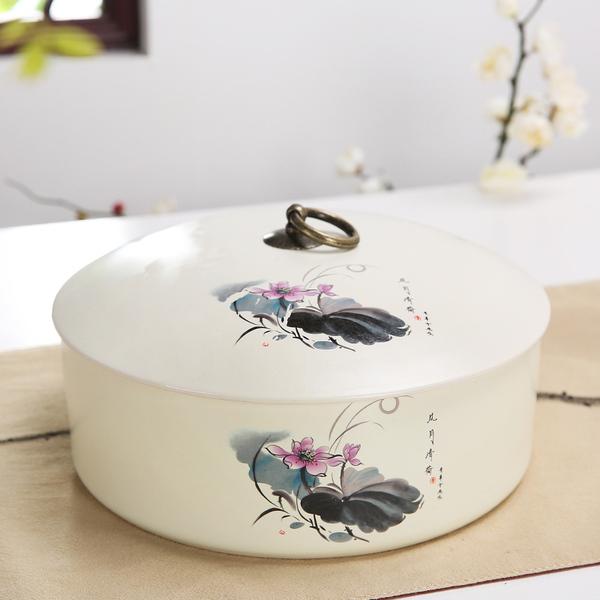 紫砂陶瓷茶葉罐大號普洱357克粗陶茶葉罐醒存茶罐三餅普洱茶餅裝預購CH1189