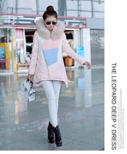 3C膜露露2014馬卡繽紛冬季新款優雅奢華毛領白鴨絨輕薄羽絨外套高端加厚外套