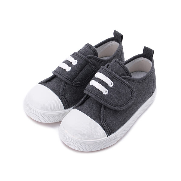 GIOVANNI VALENTINO 水洗帆布寶寶鞋 黑 中小童鞋 鞋全家福