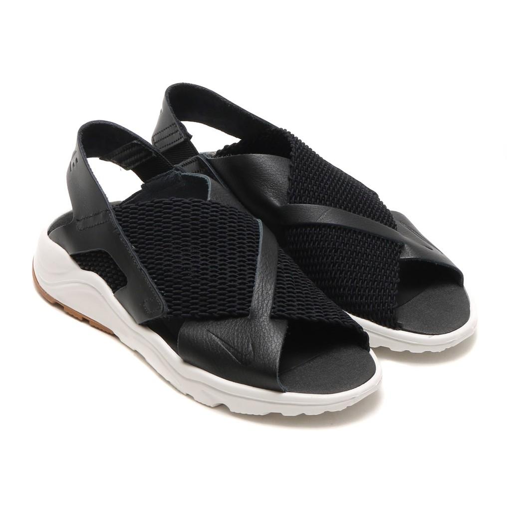 NIKE W Air Huarache Ultra女鞋涼鞋休閒武士鞋皮革梭織黑白運動世界885118-001