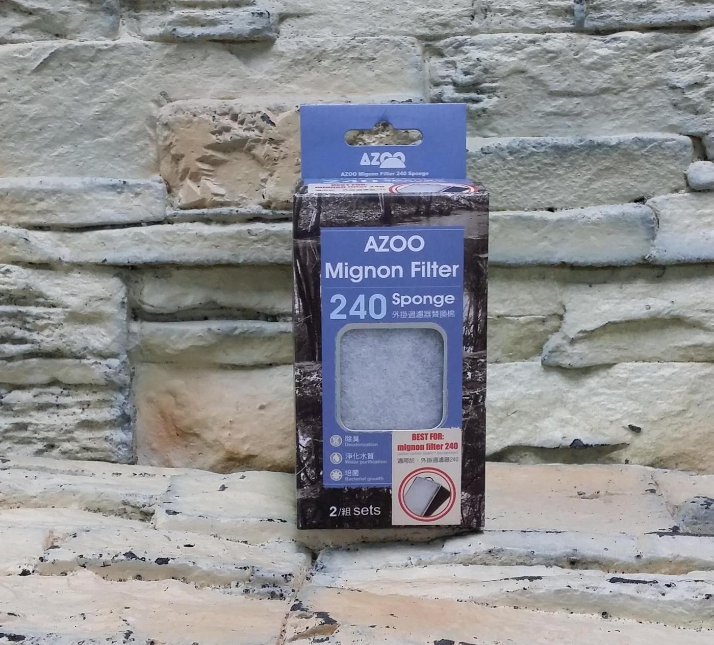 西高地水族坊AZOO愛族外掛過濾器濾材替換棉生化棉濾板240型