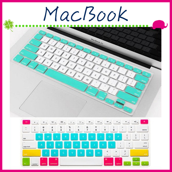 Apple MacBook Air Pro Retina馬卡龍糖果色筆電鍵盤膜超薄純英文按鍵膜撞色筆記本電腦鍵盤保護膜