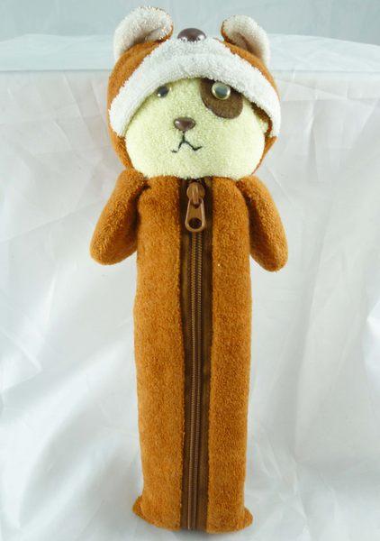 震撼精品百貨日本泰迪熊~造型鉛筆袋狗熊