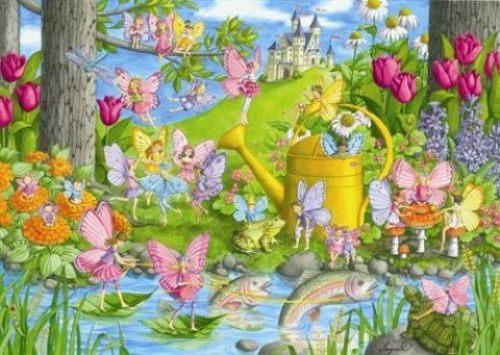 Ravensburger維寶100片拼圖-花仙子樂園