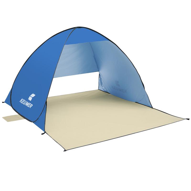 【泰博思】KEUMER(150*120+60*110)秒開帳篷 遮陽帳篷 沙灘帳篷【H033】