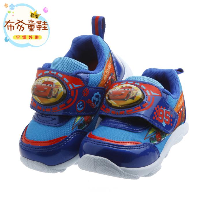 《布布童鞋》Cars閃電麥坤藍色炫彩電燈運動鞋(14~19公分) [ M7E078B ] 藍色款