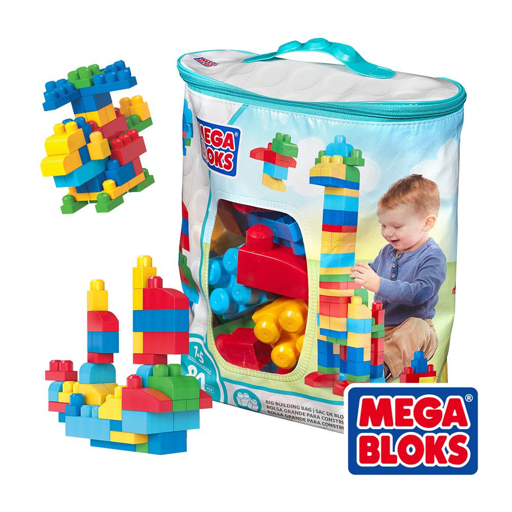 MEGA BLOKS 美高積木 80片積木袋 (藍) 美泰兒正貨