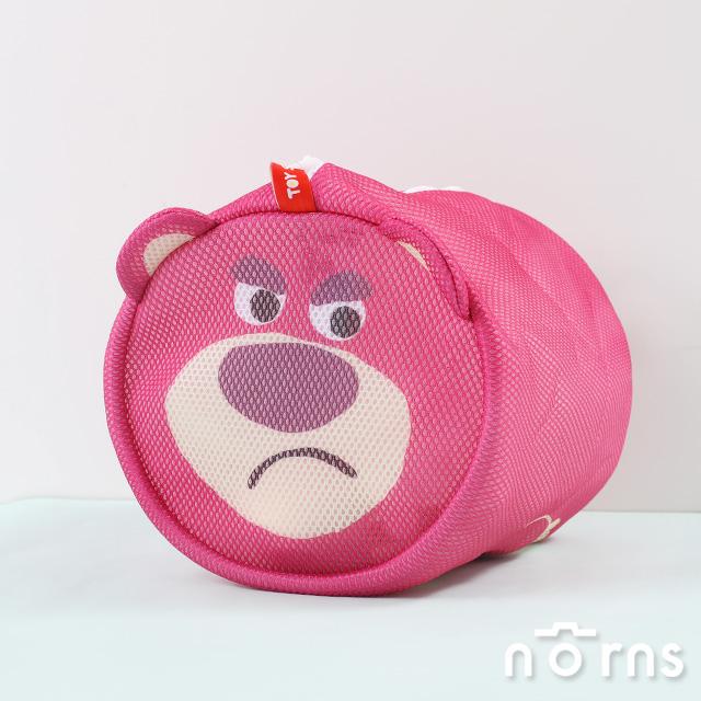 【日貨玩具總動員洗衣網L號】Norns 熊抱哥 雙層網布 立體圓柱洗衣袋