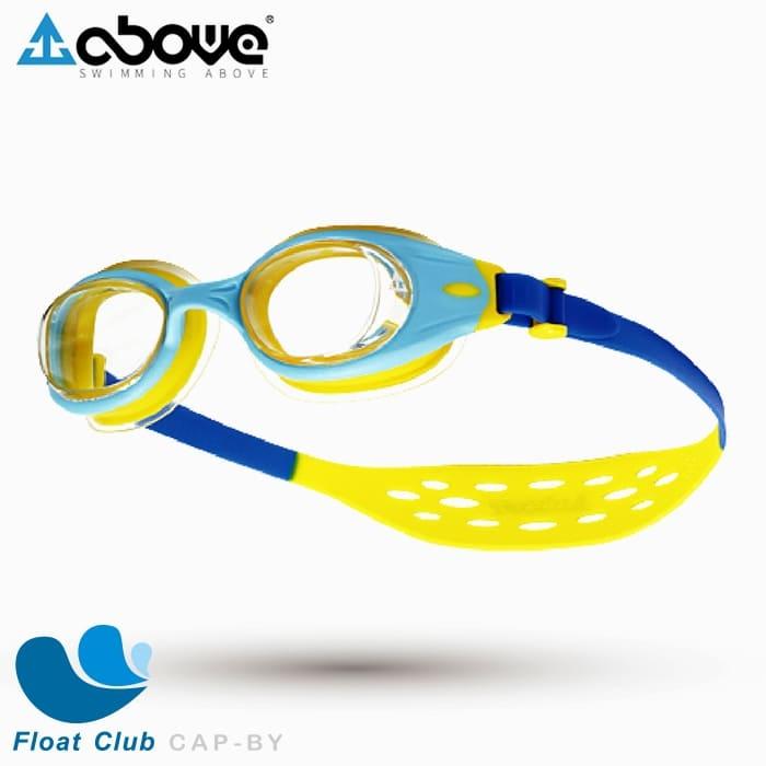 ABOVE Cubit AIR PLUS+ 幼兒款氣墊平光泳鏡 藍黃色