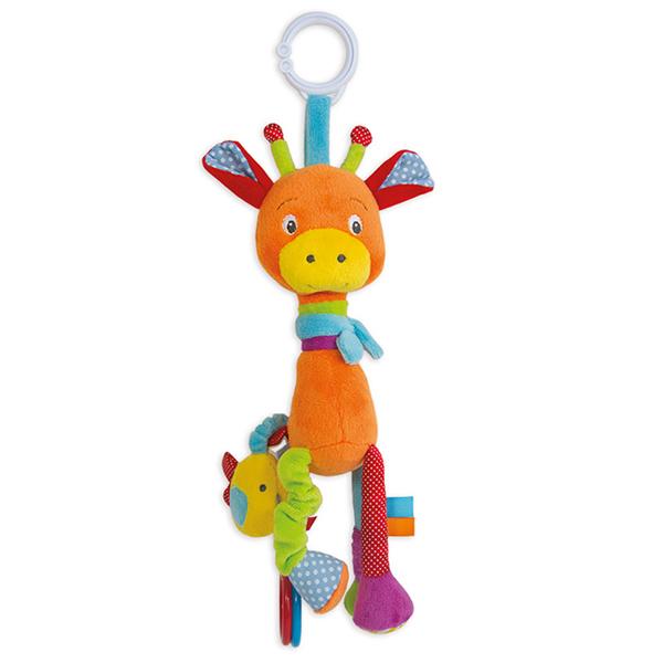 法國DOU DOU 花花長頸鹿玩具遊戲布偶30CM