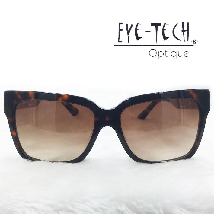 橘子樹眼鏡Eye Tech方型鏤空花紋太陽眼鏡獨家限量ET3268玳瑁抗UV太陽眼鏡日本製