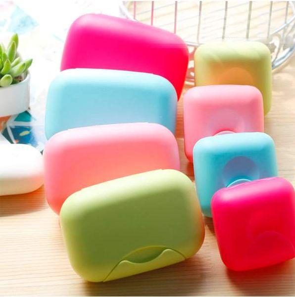 TwinS帶蓋帶扣旅行手工香皂盒肥皂盒珠寶小物收納小號-顏色隨機發貨
