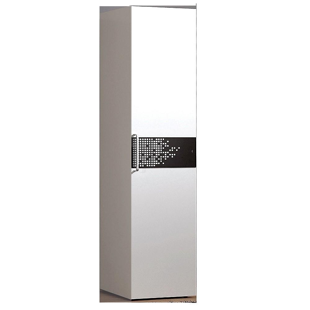 【森可家居】波爾卡1.4尺衣櫥 6CM620-4 衣櫃 白色 衣物收納