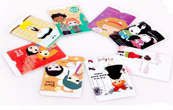 薇嘉雅       韓國鈕子 超可愛卡通信用卡套 卡套 雙面銀行卡套 24種超多款