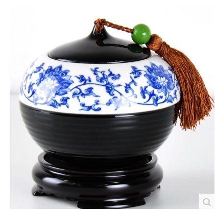 茶葉罐創意手柄無紡布密封茶葉盒不含底座