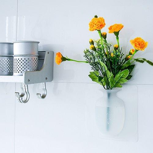 抖音同款矽膠花瓶 玻璃牆上小花瓶 魔力神奇壁掛 無痕粘貼