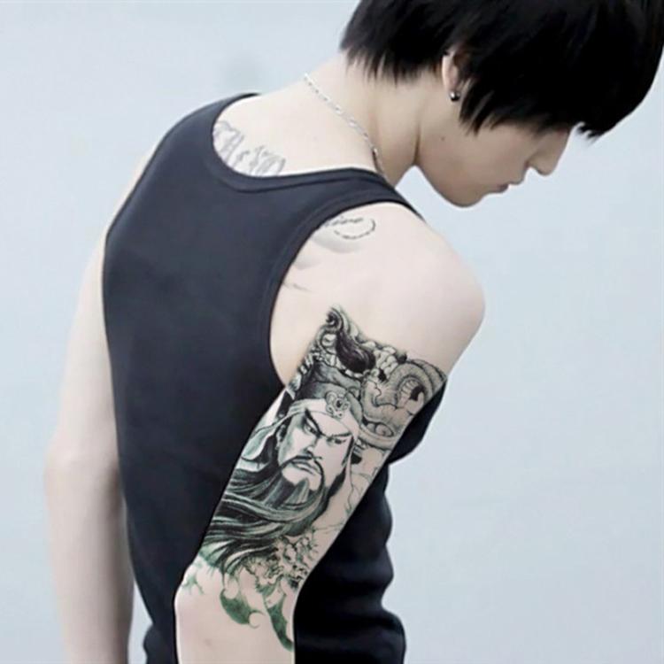 紋身貼 祥龍關公 花臂紋身貼 刺青 麒麟 鯉魚 仿真 男女通用 現貨 多款 手臂 肩膀【0064】