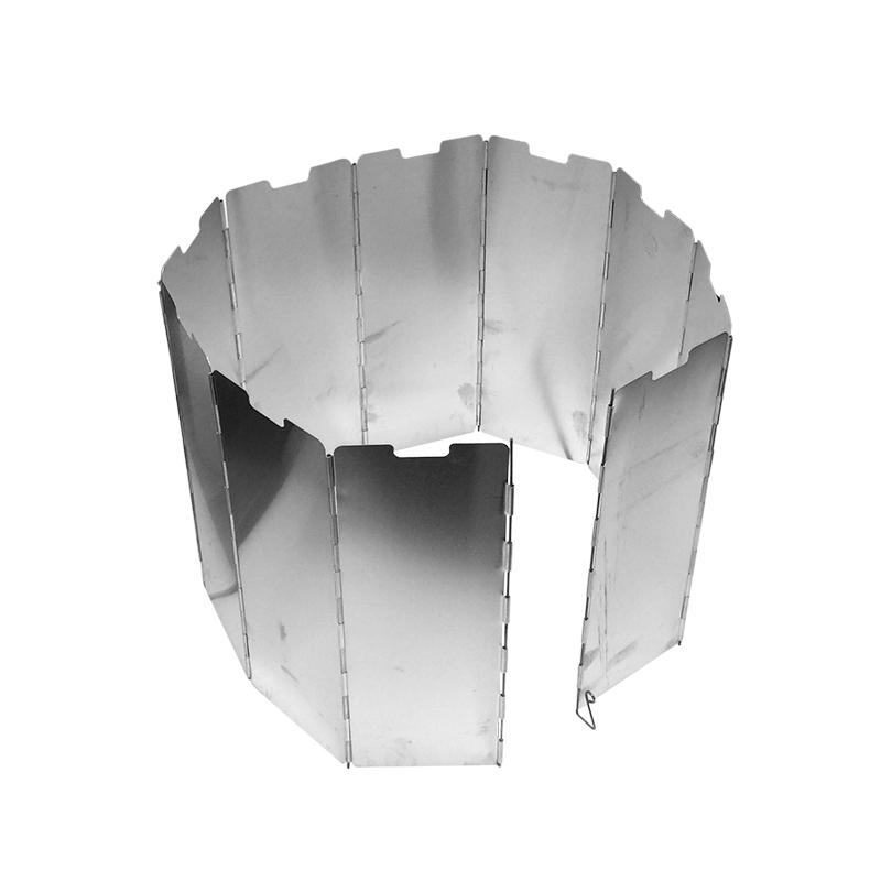 【泰博思】 10片 摺疊擋風板 防風板 鋁合金 附插地勾 擋風片 隔風板 輕量化【H031-T】