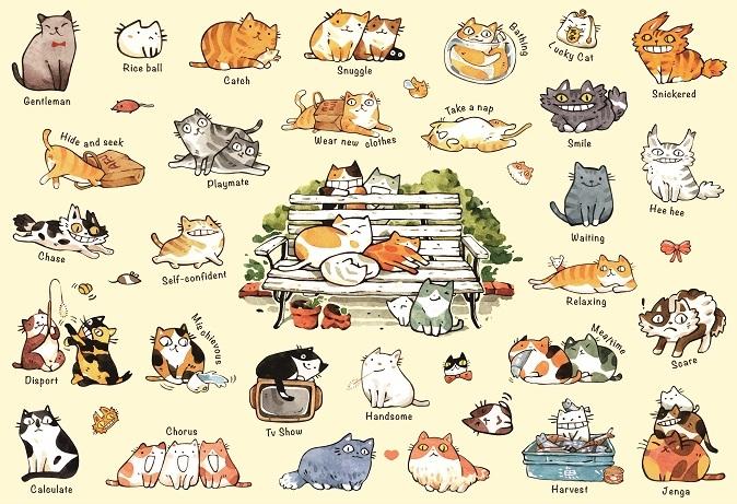 拼圖總動員PUZZLE STORY貓咪的100種生活之二PuzzleStory X Apple one afu-3月新品繪畫300P
