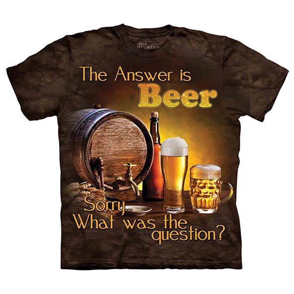 摩達客預購美國進口The Mountain Life戶外系列啤酒是答案純棉環保短袖T恤10415045193