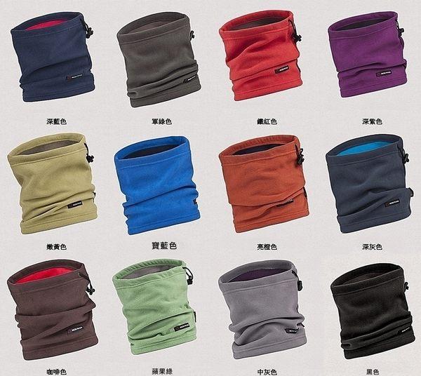 我愛買#BOTACK搖粒絨魔術頭巾帽百變帽多功能帽(面罩口罩脖圍巾保暖帽)防風帽圍脖圍抓絨帽防寒帽