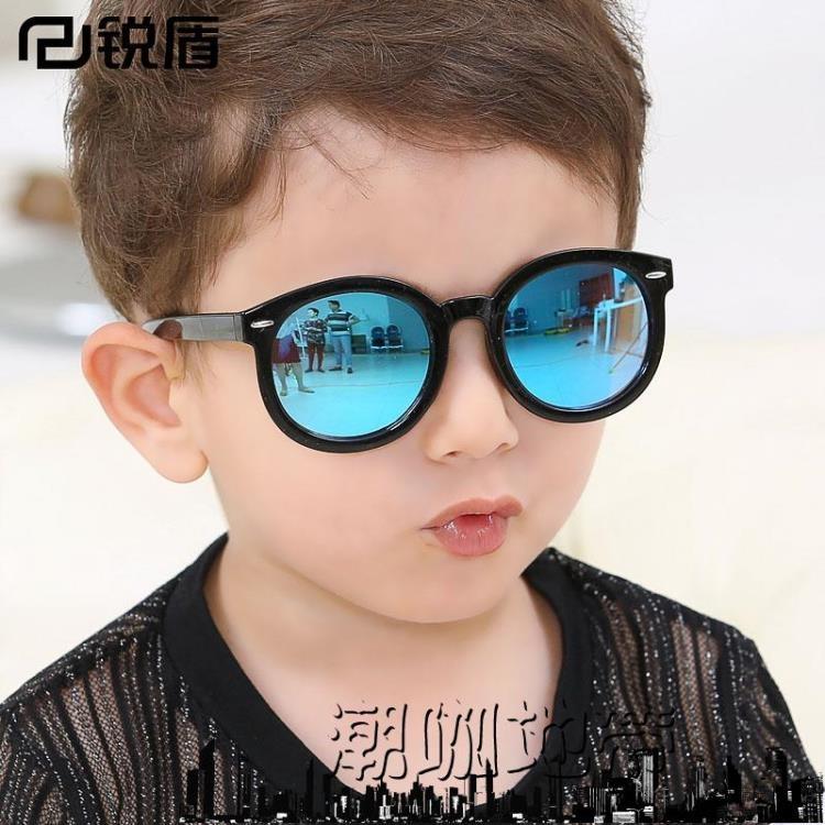 太陽眼鏡兒童太陽鏡男孩可愛墨鏡潮咖地帶潮咖地帶